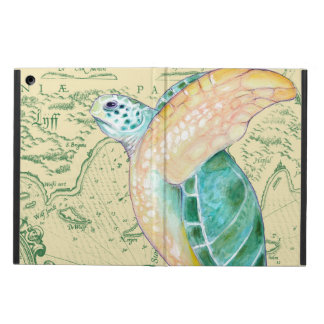 Tan van de Schildpad van het zee de Wijnoogst van iPad Air Hoesje