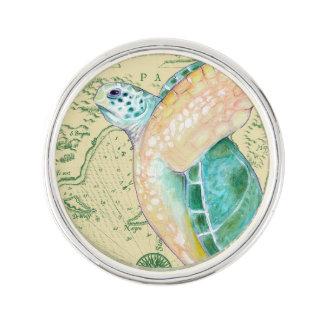 Tan van de Schildpad van het zee de Wijnoogst van Reverspeldje