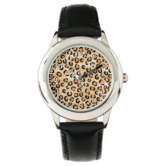 Tan, Zwarte en Bruine van de Luipaard van de Druk Horloges