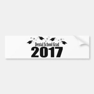 Tand Afstudeerder 2017 van de School (Zwart) Pet Bumpersticker