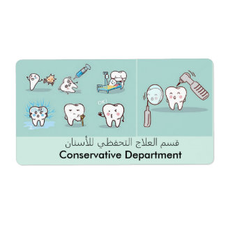 tand etiket verzendlabel