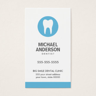 Tandarts of tandkliniek/hulp modern blauw