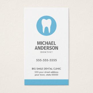 Tandarts of tandkliniek/hulp modern blauw visitekaartjes