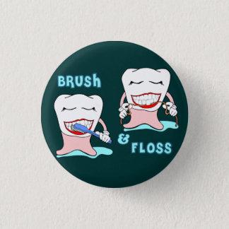 Tandartsen en tandhygiënistenhumor ronde button 3,2 cm