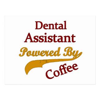 Tanddie Medewerker door Koffie wordt aangedreven Briefkaart