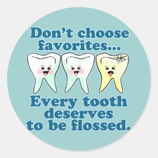 Tandheelkunde van de Hygiënist van de tandarts de Ronde Sticker