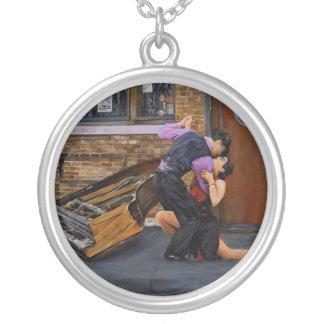 Tango op de Straat door Steve Berger Necklace Zilver Vergulden Ketting