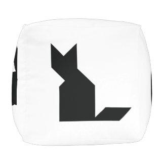 Tangram van de kat en van de hond vierkant zitkussen