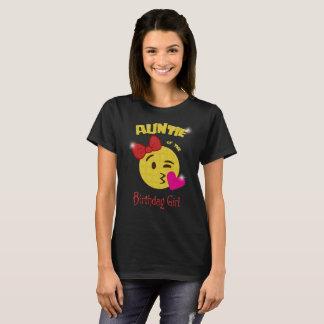 Tante van de Partij van de Verjaardag van Emoji T Shirt