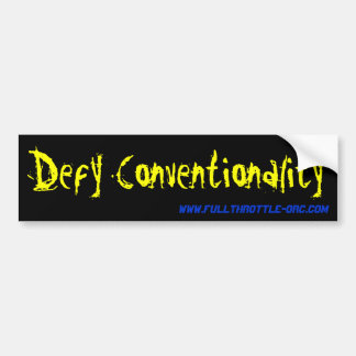 Tart Conventionality Bumpersticker