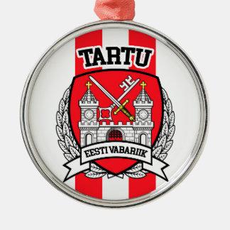 Tartu Zilverkleurig Rond Ornament