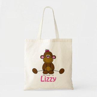 Tas met eigen naam - lief aapje - meisje