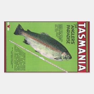 Tasmanige ~ het Paradijs van de Visser Rechthoekige Sticker