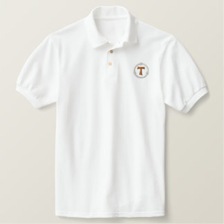 TAU franciscan Kruis - TAU francescana Geborduurd Poloshirt