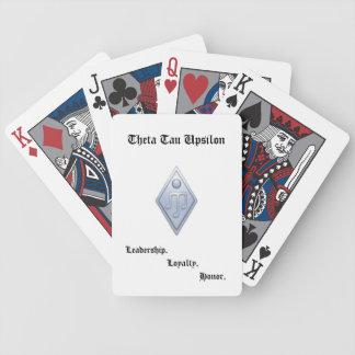 Tau van de theta de Speelkaarten van de Ypsilon Bicycle Speelkaarten
