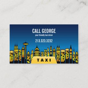 0a9df98d711 Taxi in Stad bij Nacht Visitekaartje