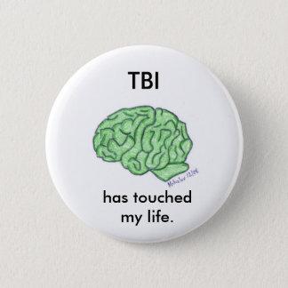 """""""TBI heeft mijn levens"""" knoop geraakt Ronde Button 5,7 Cm"""