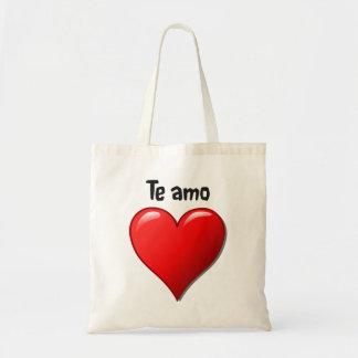 Te amo - de liefde van I u in het Spaans Budget Draagtas