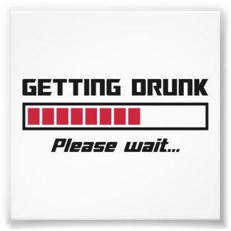 Te drink worden gelieve wacht de Bar van de Lading Foto Print