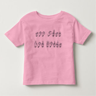 Te Leuke Fingerspell (ASL) Kinder Shirts