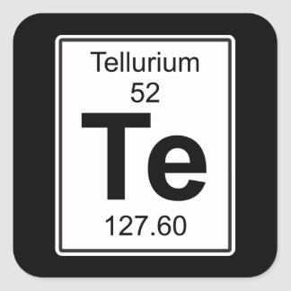 Te - Tellurium Vierkante Sticker