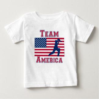 Team Amerika van de Vlag van de Speler van de Baby T Shirts