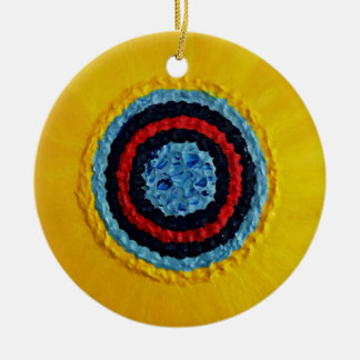 Team Matthew Sunflower voor Autisme Rond Keramisch Ornament