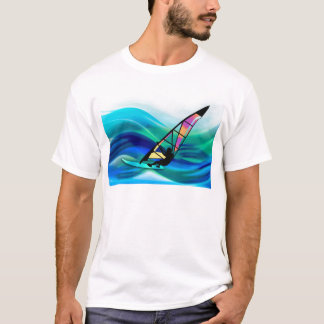 Technicolor Windsurfer in een Tyfoon T Shirt