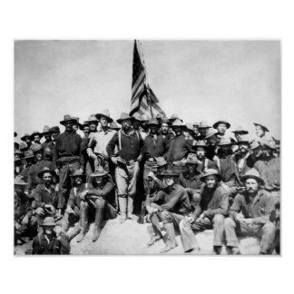 Teddy Roosevelt en Rough Riders Poster