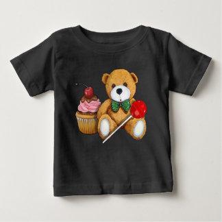 Teddybeer, Cupcake, en Lolly, Illustratie Baby T Shirts