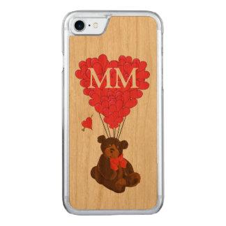 teddybeer en liefdehart carved iPhone 7 hoesje