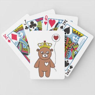 teddybeer koningin pak kaarten
