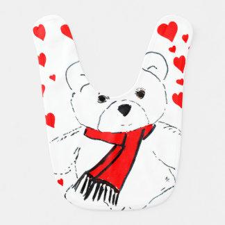 teddybeer liefde baby slabbetjes