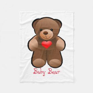 Teddybeer met Hart Fleece Deken