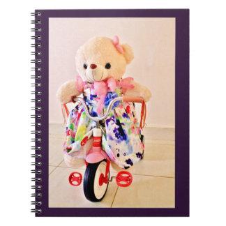 Teddybeer op een Driewieler Notitieboek