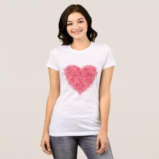 Teder roze die hart van de t-shirts van