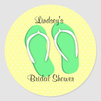 Teenslipper en Stippen Ronde Sticker