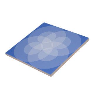 Tegel - Snijdende Cirkels in Schaduwen van Blauw Tegeltje