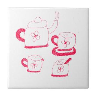 Tegel van de Tijd van de thee de Kleine Vierkante Keramisch Tegeltje