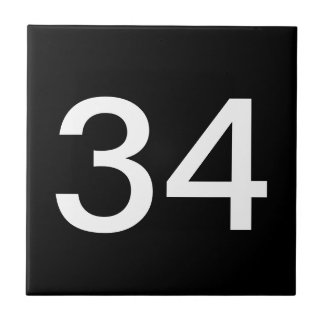 Tegels de met twee cijfers van het Aantal Keramisch Tegeltje
