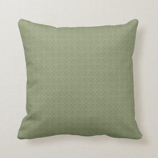 Tegels helder olijf groen sierkussen