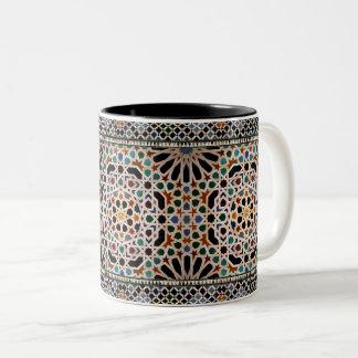 Tegels van Alhambra Tweekleurige Koffiemok