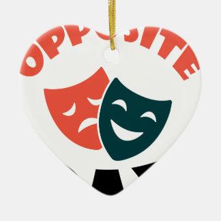 Tegenovergestelde Dag - de Dag van de Appreciatie Keramisch Hart Ornament