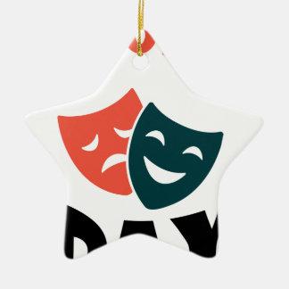 Tegenovergestelde Dag - de Dag van de Appreciatie Keramisch Ster Ornament