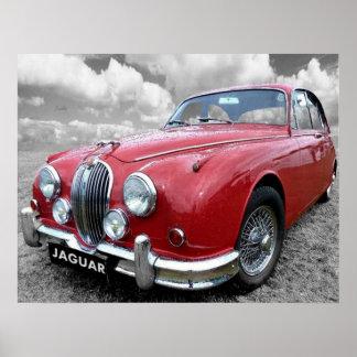 Teken 2 van Jaguar Poster