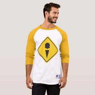 Teken 3/4 van de Voorzichtigheid van het roomijs T Shirt