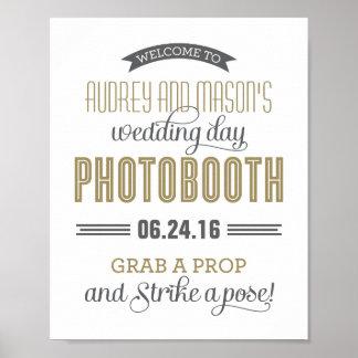Teken | van de Cabine van de Foto van het Huwelijk Poster