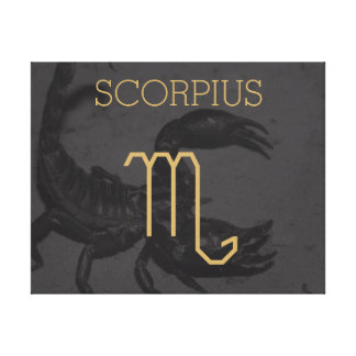 Teken | van de Dierenriem van Scorpius de Canvas Print