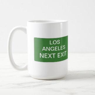 Teken van de Uitgang van Los Angeles het Volgende Koffiemok