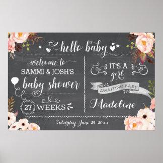 Teken van het Baby shower van het rustieke Baby Poster